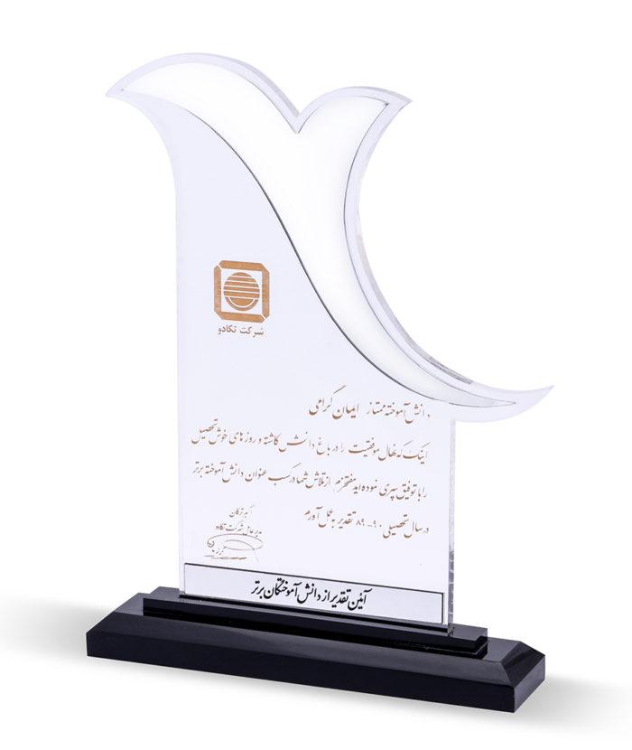 تندیس تقدیر از دانش آموختگان برتر شرکت تکادو